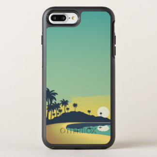 Capa Para iPhone 8 Plus/7 Plus OtterBox Symmetry Por do sol sereno da praia & capa de telefone das