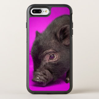 Capa Para iPhone 8 Plus/7 Plus OtterBox Symmetry Porco preto do bebê