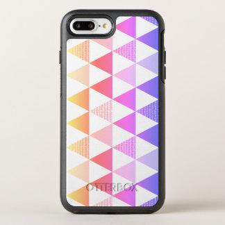Capa Para iPhone 8 Plus/7 Plus OtterBox Symmetry Prisma tribal do arco-íris da seta geométrico
