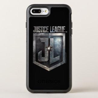 Capa Para iPhone 8 Plus/7 Plus OtterBox Symmetry Protetor metálico da liga de justiça   JL