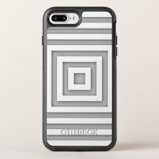 Capa Para iPhone 8 Plus/7 Plus OtterBox Symmetry Quadrado branco geométrico