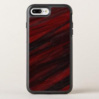 Capa Para iPhone 8 Plus/7 Plus OtterBox Symmetry Raias diagonais vermelhas e pretas