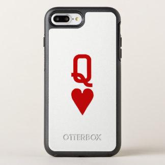 Capa Para iPhone 8 Plus/7 Plus OtterBox Symmetry Rainha do iPhone X/8/7 dos corações mais o caso de