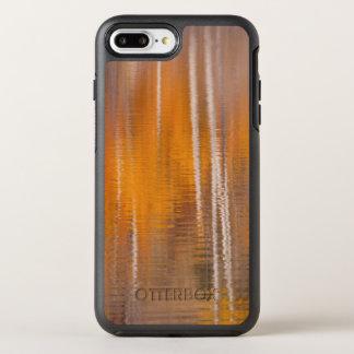 Capa Para iPhone 8 Plus/7 Plus OtterBox Symmetry Reflexões do outono na lagoa | Winthrop do castor,