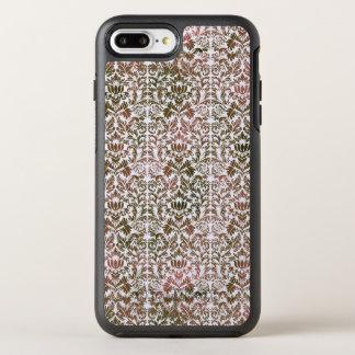 Capa Para iPhone 8 Plus/7 Plus OtterBox Symmetry Rosa e damasco de várias cores de Shibori do Batik