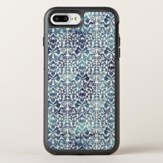 Capa Para iPhone 8 Plus/7 Plus OtterBox Symmetry Roxo azul afligido damasco da sarja de Nimes de