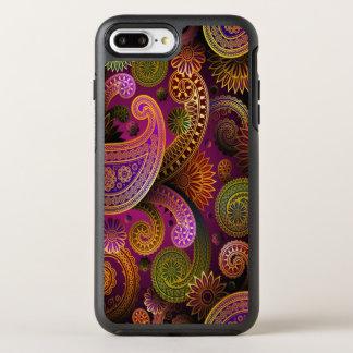 Capa Para iPhone 8 Plus/7 Plus OtterBox Symmetry Roxo de Paisley