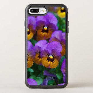 Capa Para iPhone 8 Plus/7 Plus OtterBox Symmetry Roxo e Pansies do ouro