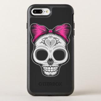 Capa Para iPhone 8 Plus/7 Plus OtterBox Symmetry Senhora pequena Açúcar Crânio