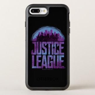 Capa Para iPhone 8 Plus/7 Plus OtterBox Symmetry Silhueta da cidade da liga de justiça da liga de