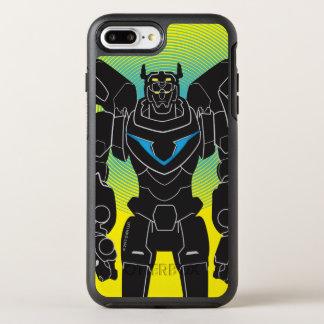 Capa Para iPhone 8 Plus/7 Plus OtterBox Symmetry Silhueta preta de Voltron | Voltron