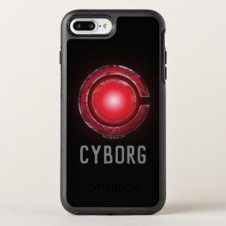 Capa Para iPhone 8 Plus/7 Plus OtterBox Symmetry Símbolo de incandescência do Cyborg da liga de