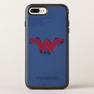 Capa Para iPhone 8 Plus/7 Plus OtterBox Symmetry Símbolo escovado | da mulher maravilha da liga de