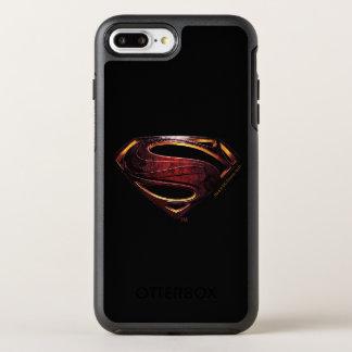 Capa Para iPhone 8 Plus/7 Plus OtterBox Symmetry Símbolo metálico do superman da liga de justiça |