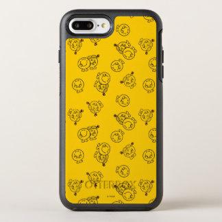 Capa Para iPhone 8 Plus/7 Plus OtterBox Symmetry Sr. Feliz & teste padrão amarelo pequeno da