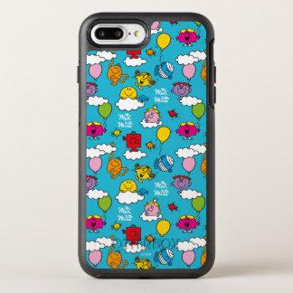 Capa Para iPhone 8 Plus/7 Plus OtterBox Symmetry Sr. Homem & pássaros & balões pequenos da