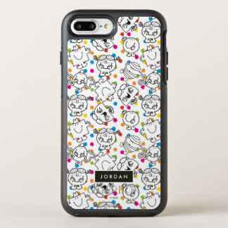 Capa Para iPhone 8 Plus/7 Plus OtterBox Symmetry Sr. Homem & teste padrão de bolinhas pequeno do