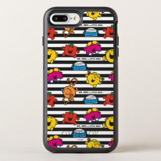 Capa Para iPhone 8 Plus/7 Plus OtterBox Symmetry Sr. Homem & teste padrão pequeno das listras da