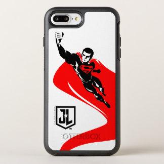 Capa Para iPhone 8 Plus/7 Plus OtterBox Symmetry Superman da liga de justiça | que voa o pop art