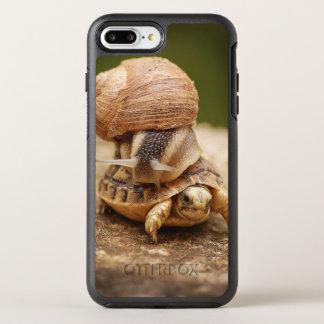 Capa Para iPhone 8 Plus/7 Plus OtterBox Symmetry Tartaruga do bebê da equitação do caracol