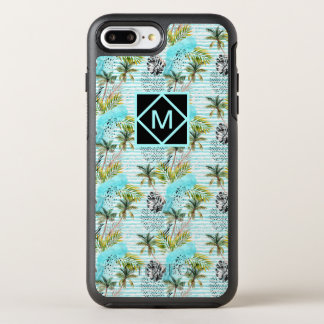 Capa Para iPhone 8 Plus/7 Plus OtterBox Symmetry Teste padrão abstrato da palmeira da aguarela