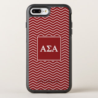 Capa Para iPhone 8 Plus/7 Plus OtterBox Symmetry Teste padrão alfa do alfa | Chevron do Sigma
