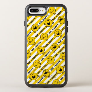 Capa Para iPhone 8 Plus/7 Plus OtterBox Symmetry Teste padrão amarelo das listras do Sr. Feliz |