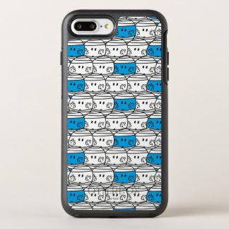 Capa Para iPhone 8 Plus/7 Plus OtterBox Symmetry Teste padrão azul do Sr. Colisão |