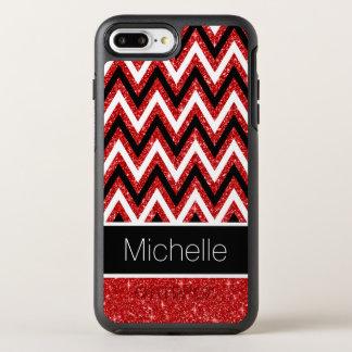 Capa Para iPhone 8 Plus/7 Plus OtterBox Symmetry Teste padrão branco das vigas do preto vermelho
