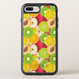 Capa Para iPhone 8 Plus/7 Plus OtterBox Symmetry Teste padrão colorido da fruta do divertimento