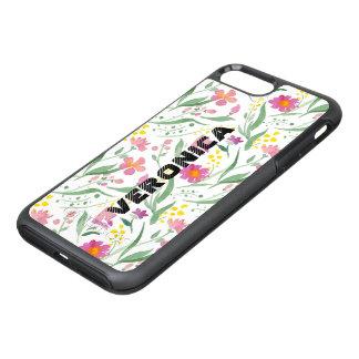 Capa Para iPhone 8 Plus/7 Plus OtterBox Symmetry Teste padrão colorido das flores & das folhas do