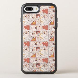 Capa Para iPhone 8 Plus/7 Plus OtterBox Symmetry Teste padrão cómico do monstro pequeno feliz de