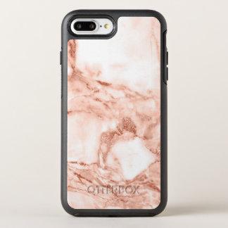 Capa Para iPhone 8 Plus/7 Plus OtterBox Symmetry Teste padrão cor-de-rosa bonito do mármore da