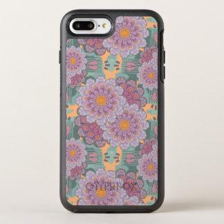 Capa Para iPhone 8 Plus/7 Plus OtterBox Symmetry Teste padrão cor-de-rosa da mandala do Zinnia