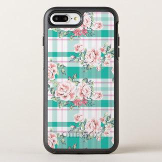 Capa Para iPhone 8 Plus/7 Plus OtterBox Symmetry Teste padrão cor-de-rosa das flores bonitas do