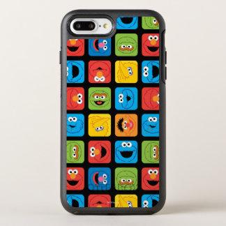 Capa Para iPhone 8 Plus/7 Plus OtterBox Symmetry Teste padrão cubado Sesame Street das caras