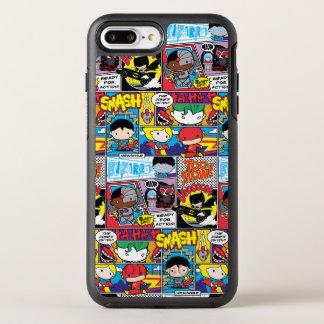 Capa Para iPhone 8 Plus/7 Plus OtterBox Symmetry Teste padrão da banda desenhada da liga de justiça