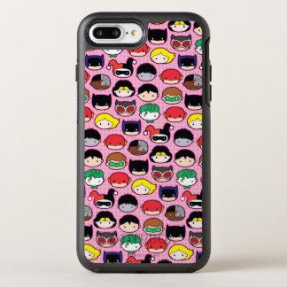 Capa Para iPhone 8 Plus/7 Plus OtterBox Symmetry Teste padrão da cabeça da liga de justiça de Chibi