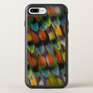 Capa Para iPhone 8 Plus/7 Plus OtterBox Symmetry Teste padrão da pena do Lovebird