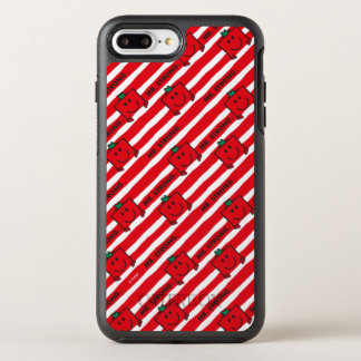 Capa Para iPhone 8 Plus/7 Plus OtterBox Symmetry Teste padrão das listras do vermelho do Sr. Forte