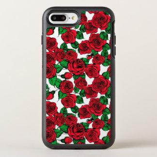 Capa Para iPhone 8 Plus/7 Plus OtterBox Symmetry Teste padrão das rosas vermelhas