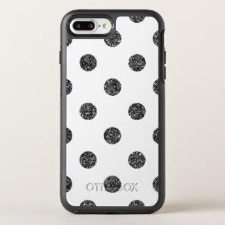 Capa Para iPhone 8 Plus/7 Plus OtterBox Symmetry Teste padrão de bolinhas elegante do brilho do
