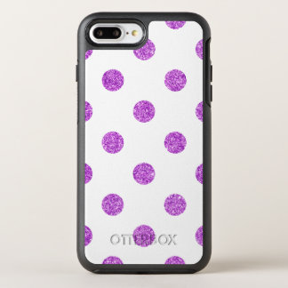 Capa Para iPhone 8 Plus/7 Plus OtterBox Symmetry Teste padrão de bolinhas roxo elegante do brilho