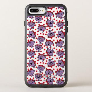 Capa Para iPhone 8 Plus/7 Plus OtterBox Symmetry Teste padrão de bolinhas vermelho pequeno da