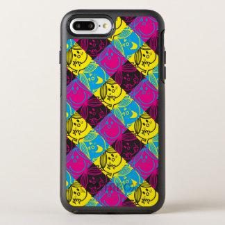 Capa Para iPhone 8 Plus/7 Plus OtterBox Symmetry Teste padrão de néon pequeno da senhorita Luz do