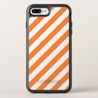 Capa Para iPhone 8 Plus/7 Plus OtterBox Symmetry Teste padrão diagonal alaranjado e branco das