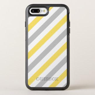 Capa Para iPhone 8 Plus/7 Plus OtterBox Symmetry Teste padrão diagonal cinzento e amarelo das