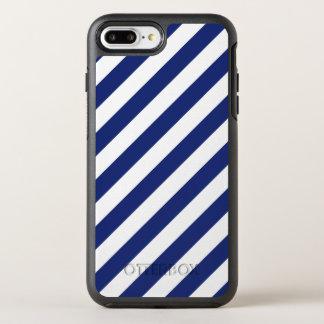 Capa Para iPhone 8 Plus/7 Plus OtterBox Symmetry Teste padrão diagonal do azul marinho e o branco