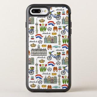 Capa Para iPhone 8 Plus/7 Plus OtterBox Symmetry Teste padrão do Doodle de Netherland