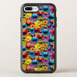 Capa Para iPhone 8 Plus/7 Plus OtterBox Symmetry Teste padrão do grupo do Sesame Street